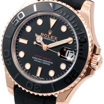 Rolex Midsize 18K Everose Gold Yachtmaster Oysterflex Band Unworn