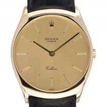 Rolex Cellini 18kt Gelbgold Handaufzug Armband Leder 31mm...