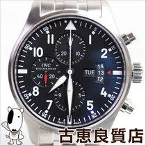 IWC 【MT548】【中古】IWC パイロットウォッチ クロノグラフ IW377704 フリーガー ブラックダイアル SS...