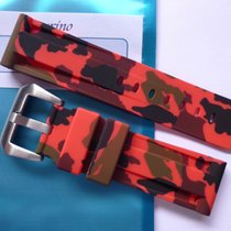 Bodhy Rubber strap 24mm - Red Camo with buckle Camouflage...