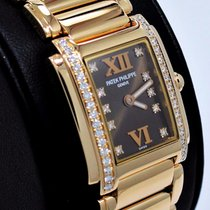 Patek Philippe Twenty 4 Diamond 18k Rose Gold Chocolate Ladies...