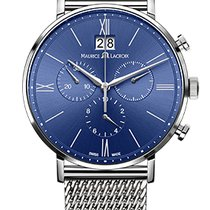 Maurice Lacroix Eliros Chronographe Blue Dial, Steel Strap, Date