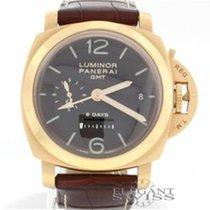 Panerai Luminor 1950 8 Days GMT 18K Pink Gold Limited Watch...