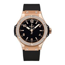 Hublot Big Bang 38mm Quartz 18K Rose Gold Watch Ref 361.PX.128...