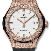 Hublot Classic Fusion 33mm King Gold Opalin Diamond Pave...