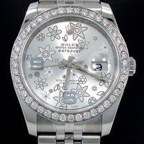 Rolex Ladies Datejust 36mm Jubille Ss 1.35ct Diamond Bezel...