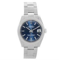 Rolex Midsize Datejust Blue Dial Stainless Steel Watch 178240