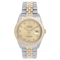 Rolex 2-Tone Turnograph Men's Steel & Gold Watch...
