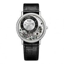 Piaget Altiplano Black and Silver Dial 18K White Gold Diamond...