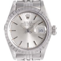 Rolex Ladies Rolex Date Pre-owned Watch 69240 Silver Dial