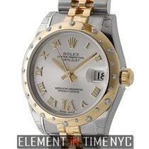 Rolex Datejust Steel & Yellow Gold 31mm Scattered Diamond...