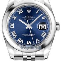 Rolex Datejust 36mm Stainless Steel 116200 Blue Roman Jubilee