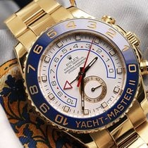 Rolex Yacht-master Ii 116688 18k Yellow Gold White Dial...