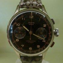 DREFFA vintage chronograph black GILT dial 345 cal L 51
