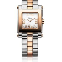 Chopard 278498-9001 Happy Sport Square 7 Diamonds - Rose...