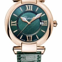 Chopard Imperiale 18K Rose Gold & Green Tourmalines Ladies...