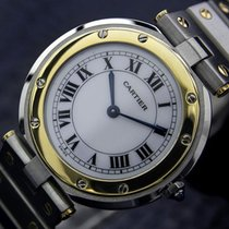 Cartier Santos Swiss Made 32mm Mid Size 18K Gold Stainles...