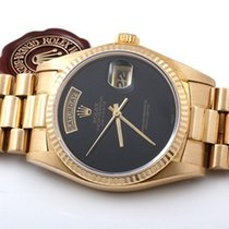 Rolex 18K Yellow Gold Day-Date President Factory Black Onyx 36mm