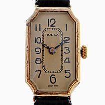 Rolex 1929 9ct Gold Ladies Cornercut Genex