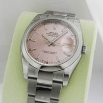 Rolex Datejust 36mm Pink Index Stick Oyster 116200 Box and Papers