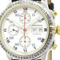 ロンジン (Longines) Polished Longines Lindbergh Chronograph 18k...
