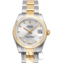 Rolex Datejust Lady 31 Sliver/18k gold 31mm G Oyster - 178273