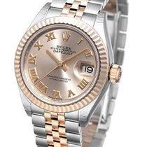 Rolex Datejust 28 Sundust Dial Roman Fluted Jubilee SS/RG...