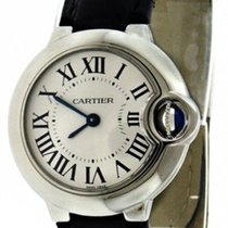 Cartier W69018Z4 Ballon Bleu 28mm Silver Dial Women BLK...