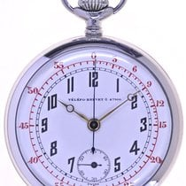Swiss Mans open face Chronograph Pocketwatch TŽlŽfo Brevet 47166