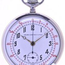Swiss Mans open face Chronograph Pocketwatch TŽlŽfo Brevet 47166