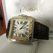 Cartier Santos 100 XL Gold Steel Roman Dial (2005)