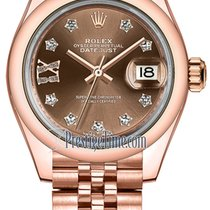 Rolex Lady Datejust 28mm Everose Gold 279165 Chocolate 17...