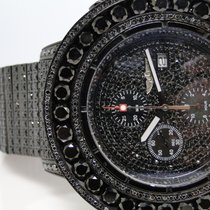 Breitling Iced Out 52 Ct Mens New Breitling Super Avenger...