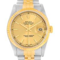 Rolex Datejust Steel 18k Yellow Gold Jubilee Bracelet Mens...