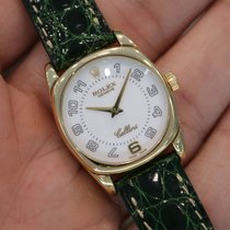 Rolex Ladies Cellini Danaos 18k Yellow Gold White Arabic W/...