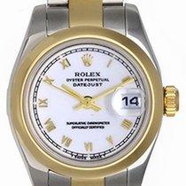 Rolex Ladies Rolex 2-Tone Datejust Watch 179163 White Dial