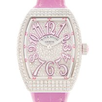 Franck Muller Vanguard Stainless Steel With Diamonds Silver...