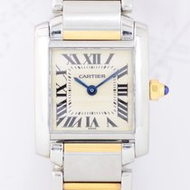 Cartier Tank Francaise Lady 18K Gold Stahl Quarz Klassiker...