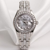 Rolex Lady DateJust PearlMaster 80299 18k white gold MOP...