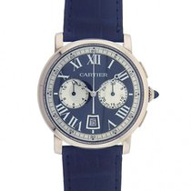 Cartier Men 18k White Gold Cartier Rotonde Automatic Chronogra...