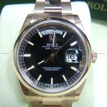 Rolex Day Date, Ref. 118205 - schwarz Index ZB/Oysterband