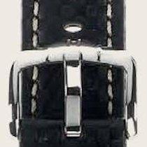 Hirsch Uhrenarmband Leder Carbon schwarz L 02592050-2-20 20mm