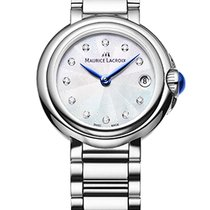Maurice Lacroix Fiaba. Pearl Dial, Diamond Index, Blue Hands,...