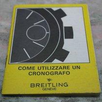 Breitling vintage booklet for chrono models italian language...