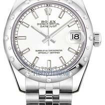Rolex Datejust 31mm Stainless Steel 178344 White Index Jubilee