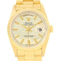Rolex President Day-date 18k Yellow Gold Anniversary Dial...