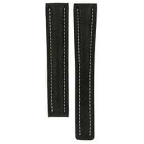 Breitling Black Leather Strap (xl) For Deployment Buckles...