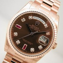 Rolex Day Date President 118235 Mens Everose Gold Chocolate...