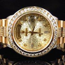 Rolex 18k Yellow Gold Mens Rolex Presidential Day-Date Diamond...