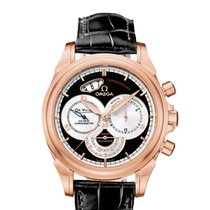 Omega DeVille Co-Axial Chronoscope Automatic 18k Rose Gold...